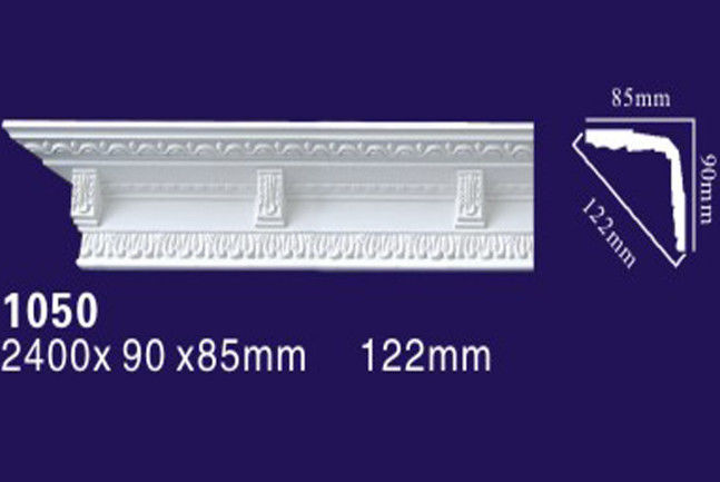 Matt Carved Surface Polyurethane Crown Molding For Home Ceiling And Wall