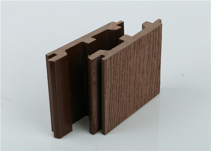 Outdoor PVC Wall Cladding , Exterior Wood Plastic Composite Wall Cladding Waterproof