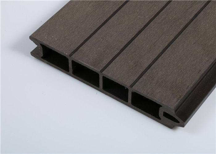 Extruded Technic WPC Wall Cladding / Capped Composite For Building Decoration